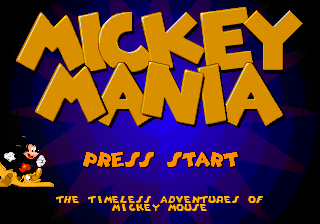 Mickey Mania - The Timeless Adventures of Mickey Mouse Title Screen
